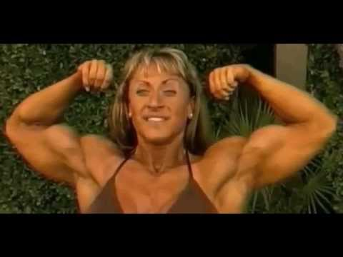Beautiful Female Bodybuilder Heather Policky Flexing Muscles and Legs 2012