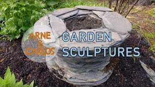 Garden Sculptures Made Of Roof Tiles, By ARNE & CARLOS