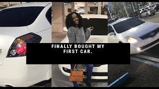 I FINALLY BOUGHT MY FIRST CAR!!!!
