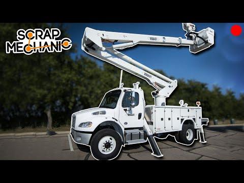 Building a Bucket Truck! - Scrap Mechanic Live Stream