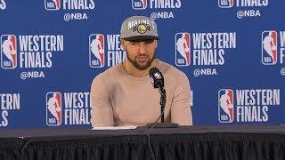 Klay Thompson postgame reaction   Warriors vs Blazers Game 4   2019 NBA Playoffs