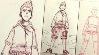 How to Draw Characters in Perspective: UP SHOT