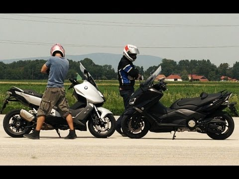BMW C600 Sport vs Yamaha T-Max 530 | Extreme test