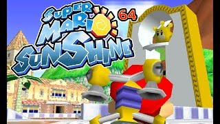 Super Mario Sunshine 64 - Delfino Plaza in Mario 64 Preview
