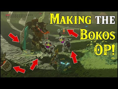 Making the Bokoblins OP! OVERPOWERED! Goodbye amiibo Weapons in Zelda Breath of the Wild amiibo