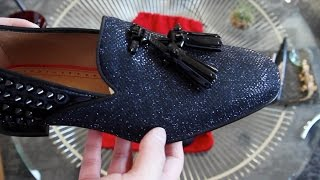 Mens Christian Louboutin Tassilo Flat Glitter Loafers Review
