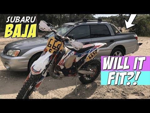 How to fit a dirt bike in a SUBARU BAJA