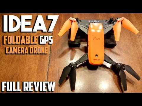 IDEA7 Foldable 720p Camera Drone with GPS Review