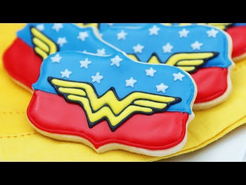 WONDER WOMAN COOKIES (Dairy Free) - NERDY NUMMIES