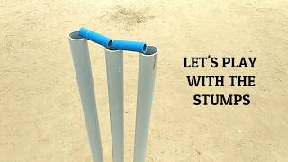 How To Make Cricket Stumps At Home | Cricket Stumps With PVC Pipe | Cricket Stumps DIY