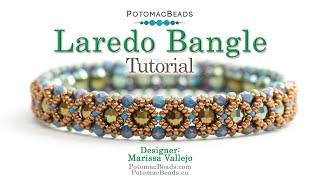Laredo Bangle- DIY Jewelry Making Tutorial By PotomacBeads