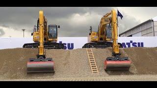 Komatsu Excavators Show - Machine control VS Machine Guidance - Bauma 2016