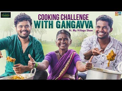 Cooking Challenge With Gangavva || Ft. My Village Show || Kaasko