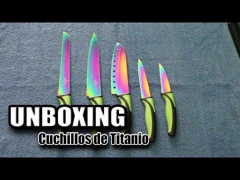 Unboxing Cuchillos Gamers de Colores de Titanio XD