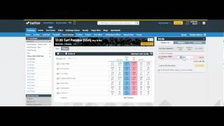 Betfair Tutorial on laying or taking action on horse racing