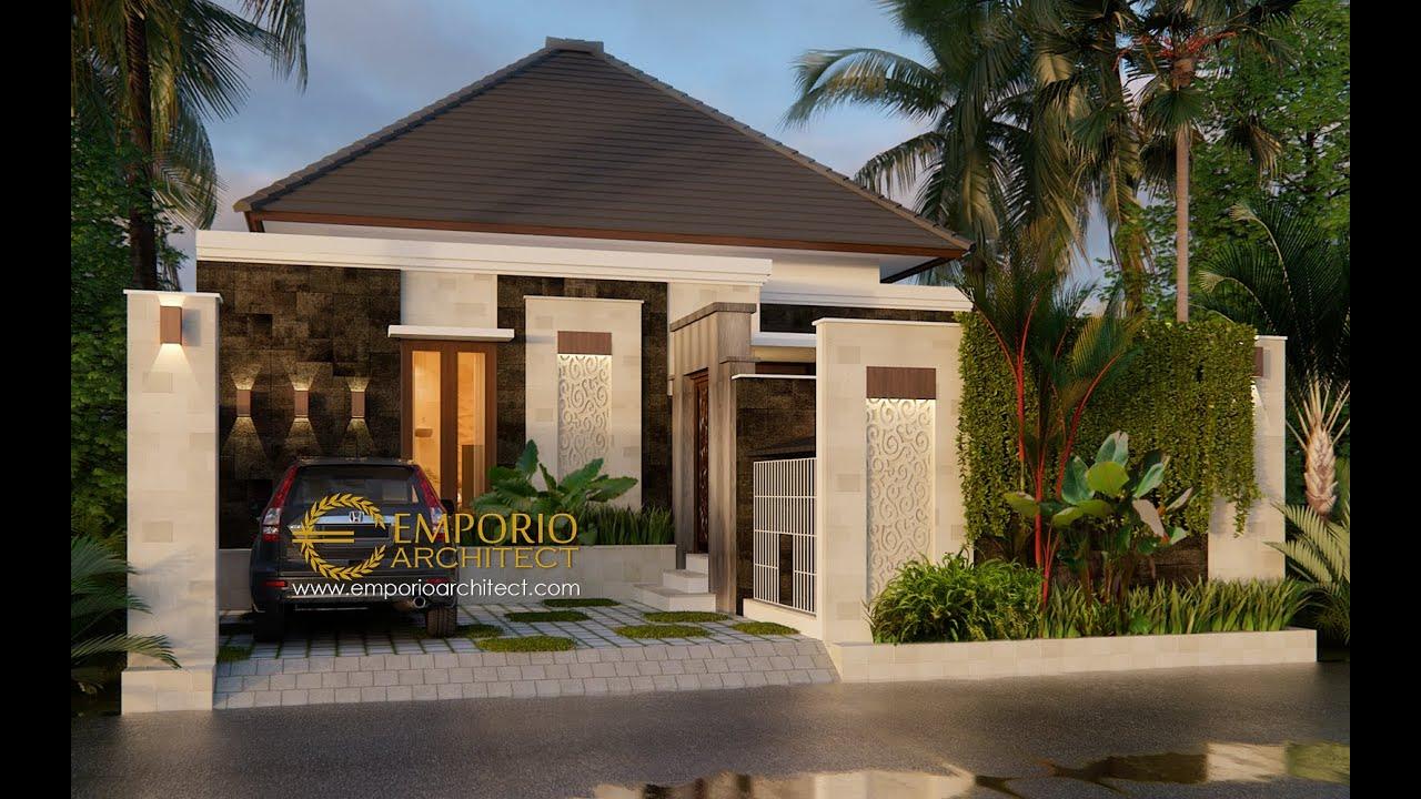 Video 3D Desain Rumah Villa Bali 1 Lantai Ibu Linawati di Denpasar, Bali