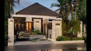 Video Desain Rumah Villa Bali 1 Lantai Ibu Linawati di  Denpasar, Bali