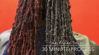 Learn step by step Loc Coloring and Halo Bun Style - Purebelle Locs