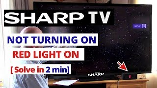 sharp aquos tv wont turn on red light - Thủ thuật máy tính