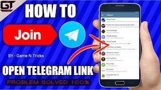 How To Join Telegram Group || Open Telegram Link || by Game N Tricks