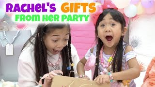 Rachels Gifts From Her Party