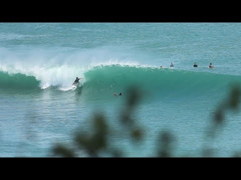 Two Waves In A Row At Packed Bingin