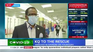 KQ to the rescue: 272 Kenyans arrive in Nairobi on Thursday after being evacuated from India