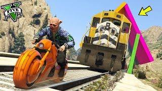 GTA 5 ONLINE 🐷 TRENO TROLL VS MOTO !!! 🐷 GARE TROLL 🐷N*84🐷 GTA V ONLINE 🐷 DAJE !!!