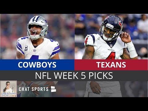 NFL Week 5 Picks: Cowboys vs. Texans, Eagles vs. Vikings & Raiders vs. Chargers