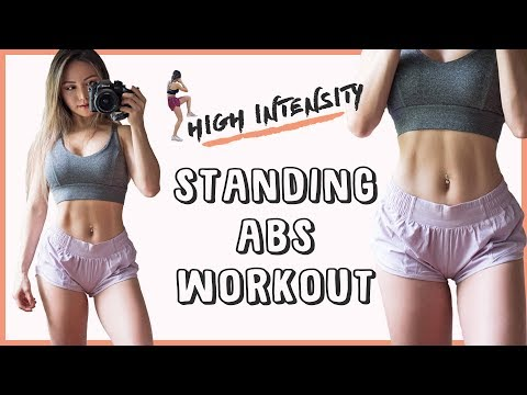 High Intensity AB Workout   10 Min Standing Abs Workout to BURN FAT & Get ABS