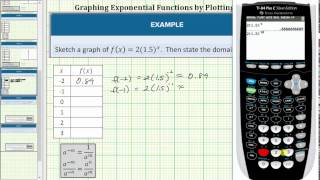 Graph An Exponential Function Using A Table Of Values
