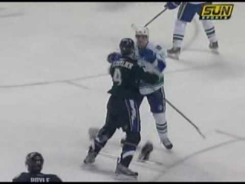 Vincent Lecavalier vs. Alexandre Burrows