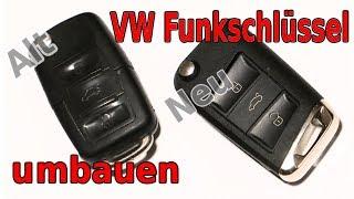 Golf4 Schlüssel auf Golf7 Optik umbauen VW Audi Seat Skoda, Schlüssel abgegriffen oder defekt
