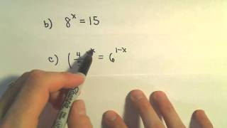 Solving Exponential Equations - Some Basic Examples
