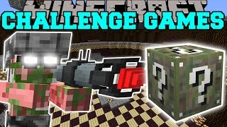 Minecraft: PIGMAN SOLDIER CHALLENGE GAMES - Lucky Block Mod - Modded Mini-Game