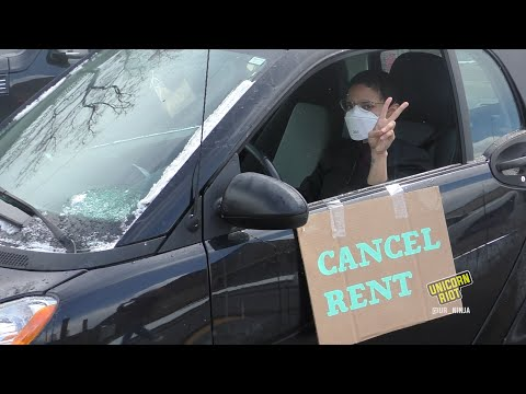 'Homes for All' Car Demo Outside MN Legislature