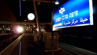 preview picture of video 'רי: רכבת ערב בחיפה מרכז IR: Evening Train at Haifa Merkaz'