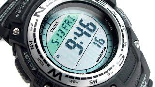 Часы Casio Twin Sensor SGW100B-3V новые, гарантия   для подводного плавания от компании Магазин Calipso diveshop, Магазин Aquamarin - видео