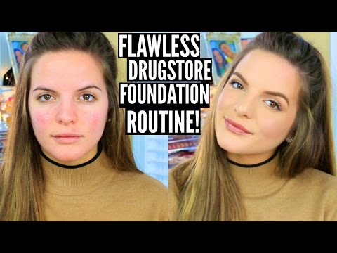 FLAWLESS Drugstore Foundation Routine! 2016 | Casey Holmes