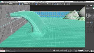 Создание потока воды на примере фонтана