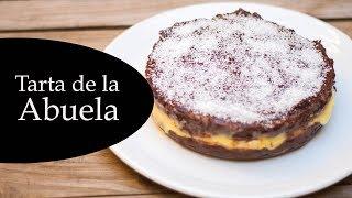 Tarta De La Abuela Tradicional Y Casera - Tarta De Chocolate Con Galletas Y Flan - Cumpleaños