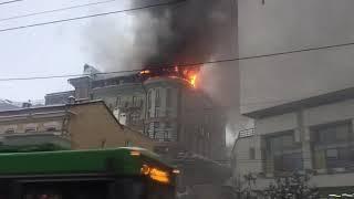 Сильный пожар в Казани