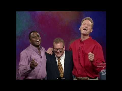 "Drew Carey comically ruins a game of ""Three-Headed Broadway Star"" on ""Whose Line is it Anyway?"""