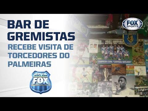 Bar de gremistas é 'febre' e recebe visita de torcedores do Palmeiras antes de duelo na Libertadores