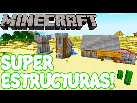 Minecraft 1.11.2 MOD SUPER ESTRUCTURAS! Merlin's Structures Mod Español!