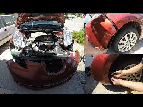 How to Remove Front Bumper 12-19 Nissan Versa - смотреть