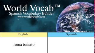 Free Spanish Quick Vocab™ :Roma Tomato - el tomate italiano