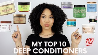 My TOP 10 Deep Conditioners For Ultimate Moisture!