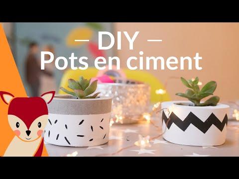 DIY Pots de fleur en béton