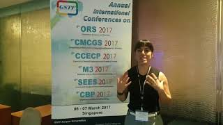 Ms. Raquel Peel at CBP Conference 2017 by GSTF